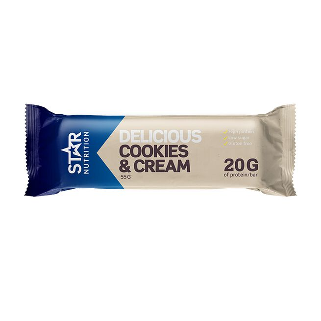 Star nutrition Cookies and cream protein bar