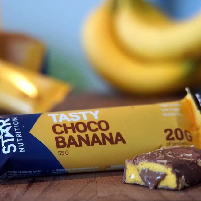 Star nutrition choco Banana protein bar mood