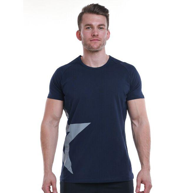 Star Nutrition Raglan T-shirt, Navy Blue, S