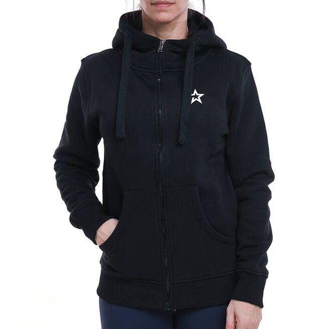 Star Womens  Zip Hood, Black, XS