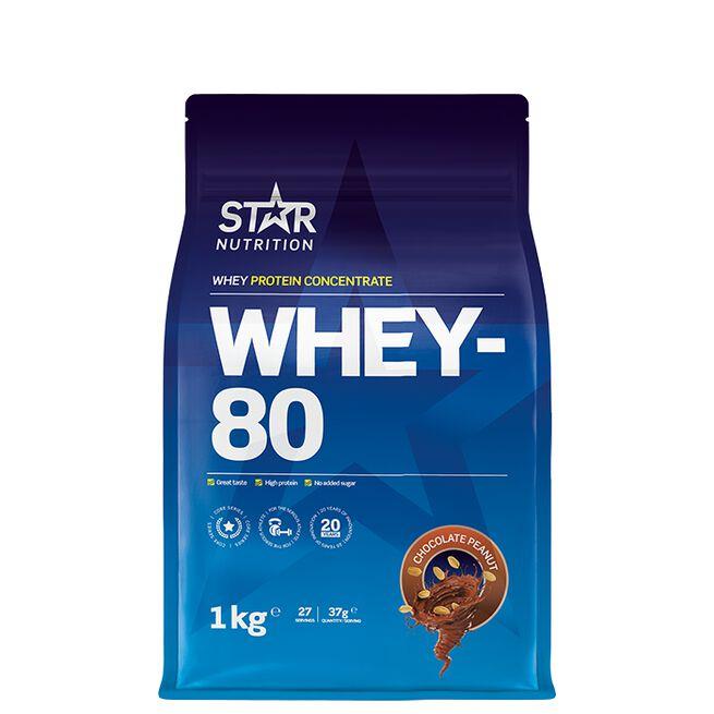 Star Nutrition Chocolate peanut whey-80
