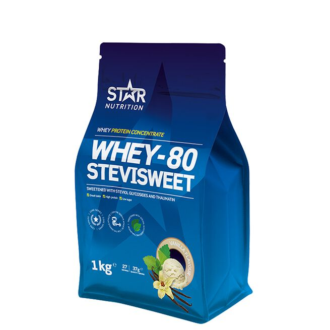 Star nutrition Whey-80 Stevisweet Vanilj Vanilla