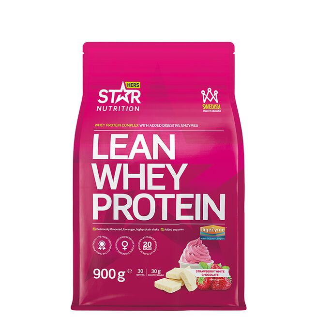 Star nutrition Lean Whey protein Strawberry white chocolate