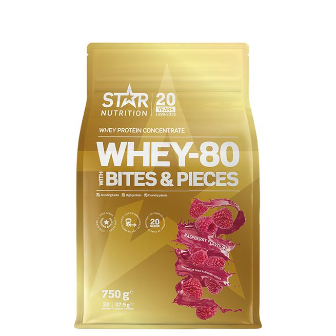 Star nutrition Bites and pieces Whey-80 Raspberry