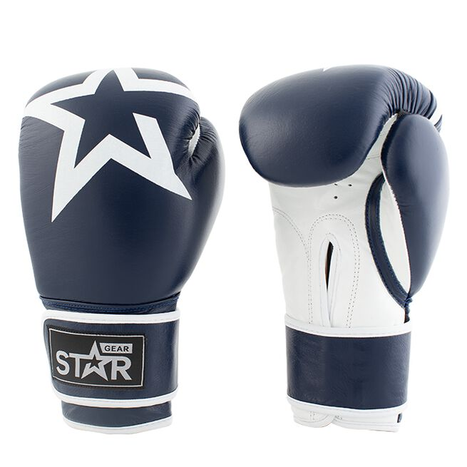 Star Gear Leather Boxing Glove, Patriot Blue, 12 oz