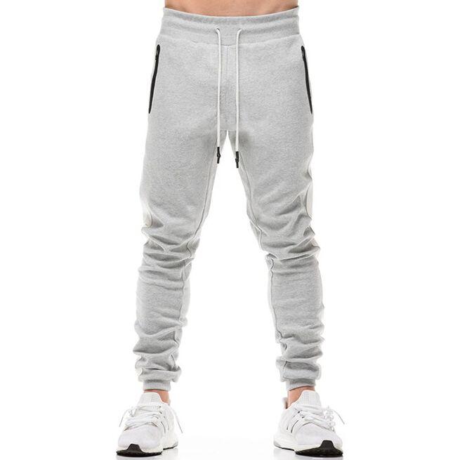Star Gym Joggers, Grey/White, L